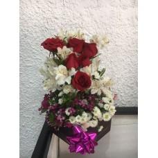 Arreglo Floral 6 Rosas