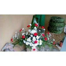 Arreglos Funebre Grande Base Sencilla Rosas